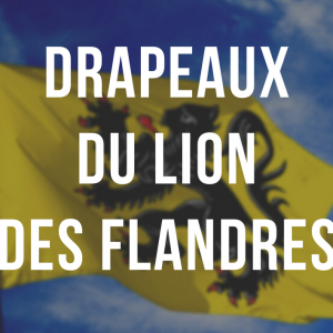 Drapeaux du lion des Flandres